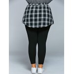 Slimming Plaid Faux Twinset Pants for sale