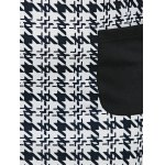 best Houndstooth Print Twin Pockets Shift Dress