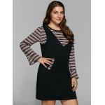 Striped Knitwear and Fitted Pinafore Dress Twinset deal