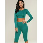 cheap Cropped Sports Top with Shorts