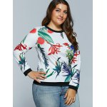 Casual 3D Tropical Plant Print Long Sleeve T-Shirt for sale