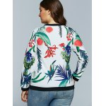 best Casual 3D Tropical Plant Print Long Sleeve T-Shirt