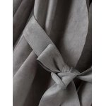 Faux Suede Fitting Trench Coat deal