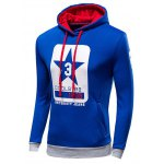 cheap Coolster Star Stitching Print Hoodie
