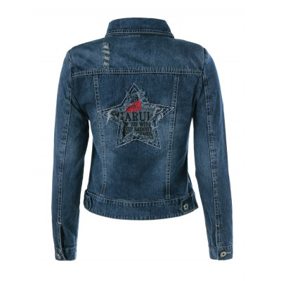 Embroidery Star Demin Jacket