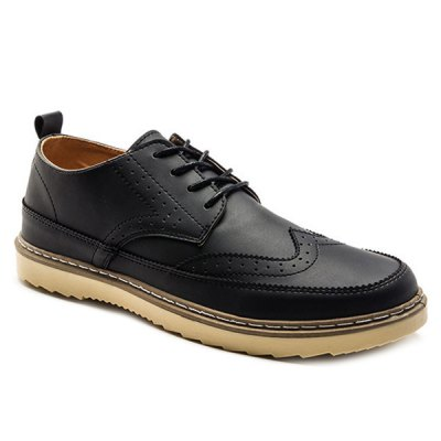 Engraving Dark Colour Casual Shoes