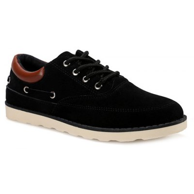 Suede Tie Up Casual Shoes