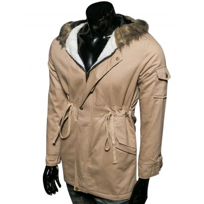 Hooded Faux Fur Collar Drawstring Cotton-Padded Parka CoatMens Jackets &amp; Coats<br>Hooded Faux Fur Collar Drawstring Cotton-Padded Parka Coat<br><br>Clothes Type: Parkas<br>Style: Fashion<br>Material: Cotton,Faux Fur,Polyester<br>Collar: Hooded<br>Clothing Length: Long<br>Sleeve Length: Long Sleeves<br>Season: Winter<br>Weight: 1.050kg<br>Package Contents: 1 x Parka Coat