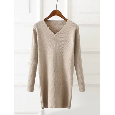 Wavy Cut Plus Size Ribbed Pullover