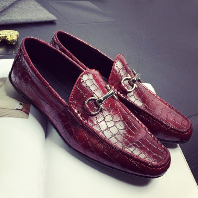 Embossing PU Leather Casual Shoes