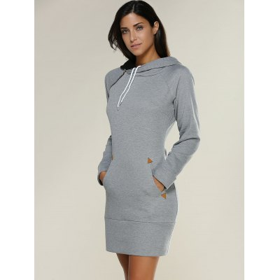 Long Sleeve Hoodie Mini Dress  $22.30