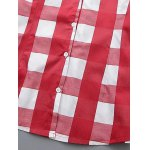 best Plus Size Checkered Print Buttoned Shirt