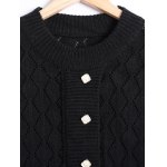 Hollow Out Mini Long Sleeve Sweater Dress deal