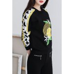 cheap Fruits Embroidered Knitted Sweater