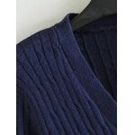 Plus Size Striped Ribbed Cardigan deal