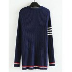 cheap Plus Size Striped Ribbed Cardigan