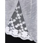 Lace Insert Asymmetric Pullover Long Sleeve Sweater photo