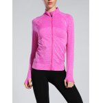 Space-Dyed Zipper Flying Slim Sporty Jacket