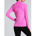 cheap Space-Dyed Zip Slim Sporty Running Jacket