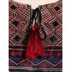 Bohemian Drawstring Design Embroidery Dress for sale