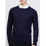 Ribbed Raglan Sleeve Crew Neck Sweater 11027