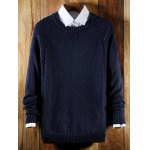 Ribbed Raglan Sleeve Crew Neck Sweater for sale