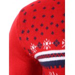 best Snowflake Deer Jacquard Round Neck Sweater