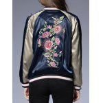 Raglan Sleeves Floral Embroidered Jacket photo