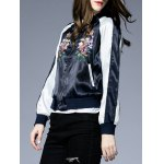 Raglan Sleeves Floral Embroidery Jacket for sale