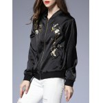 cheap Zipped Floral Patterned Jacket