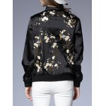 Zipped Floral Patterned Jacket for sale