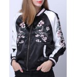 Raglan Sleeves Zipped Embroidered Jacket deal