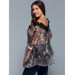Plus Size Floral See Through Blouse for sale