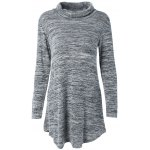 Turtleneck Asymmetric Sweater Dress