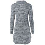 cheap Turtleneck Asymmetric Sweater Dress