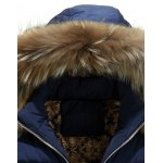 Furry Hood Zip Up Down Coat deal