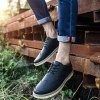 cheap Lace-Up Engraving Dark Colour Casual Shoes