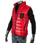 cheap Stand Collar Patch Design Zippered Quilted Waistcoat