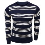 Long Sleeves Striped Pullover Knitwear