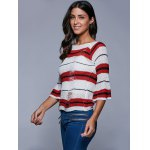 Round Neck Striped Ripped Sweater deal