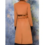 Lapel Collar Wool Blend Maxi Coat for sale
