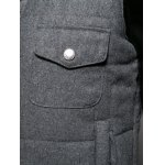 best Pocket Design Stand Collar Thicken Woolen Zip-Up Padded Waistcoat