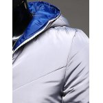 Rib Trim Zippered Hooded Quilted Jacket for sale