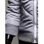 best Rib Trim Zippered Hooded Quilted Jacket