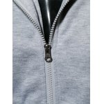Hooded Pockets Embellished Zip-Up Hoodie for sale