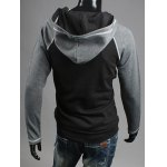 Zip Up Raglan Sleeve Insert Hoodie deal