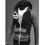 cheap Zip Up Raglan Sleeve Insert Hoodie