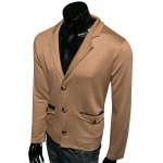 cheap Lapel PU-Leather Edging Single-Breasted Jacket