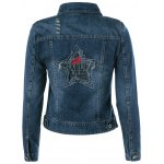 cheap Embroidery Star Denim Jacket