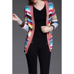 Single Breasted Colorful Cardigan deal